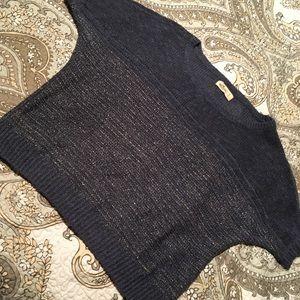 Hollister Short sleeve sweater. Metallic silver. S